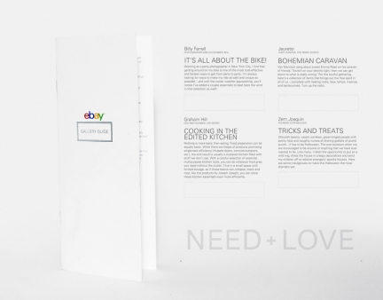 Ebay Need + Love Gallery Pamphlets
