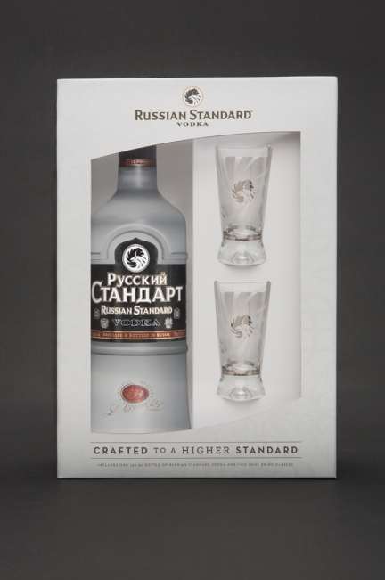 Russian Standard Vodka Product Photography